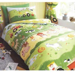 sengetøj bondegårdsdyr