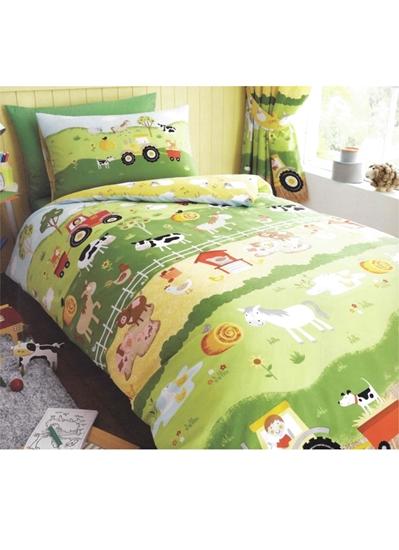 sengetøj med dyr