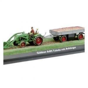 gulner med vogn traktor