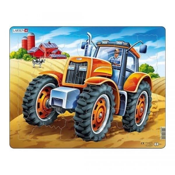 Puslespil traktor