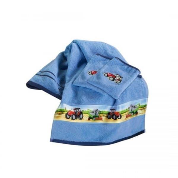 håndklæde med traktor