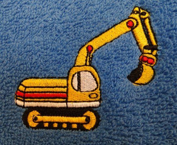 håndklæde gravemaskine