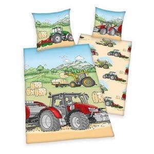 sengetøj traktor