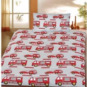 sengetøj brandbil